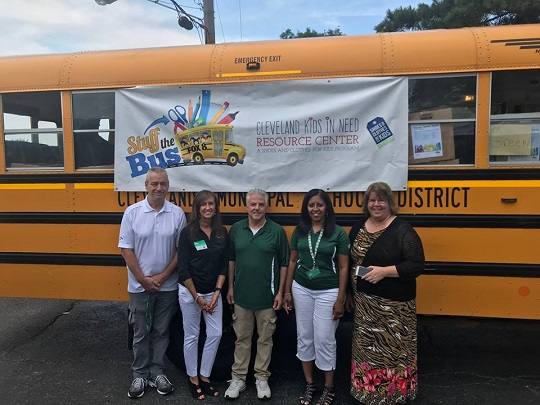 Employees Stuff the Bus with School Supplies to Help Kids in Need